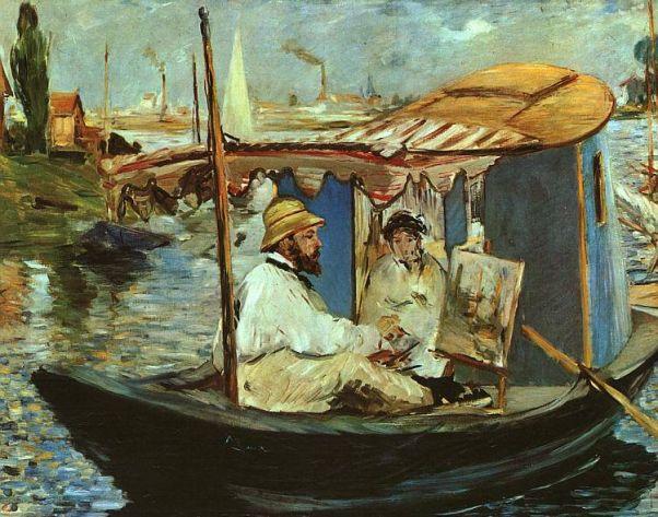 Клод Моне в лодке
