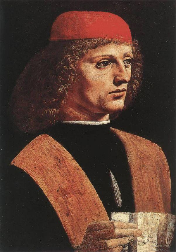 Портрет музыканта. Леонардо да Винчи