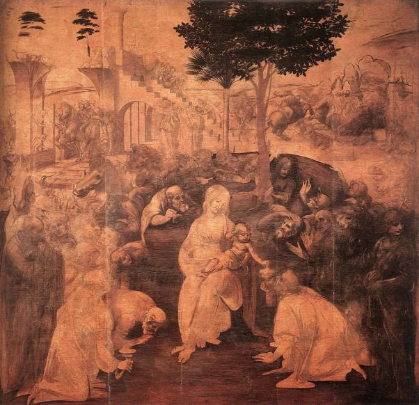 Поклонение волхвов. Леонардо да Винчи