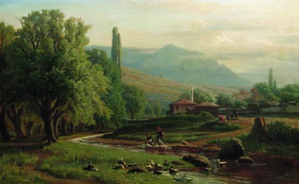 Крымский летний пейзаж. 1870