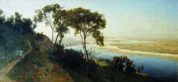 Окрестности Киева. Над Днепром. 1884