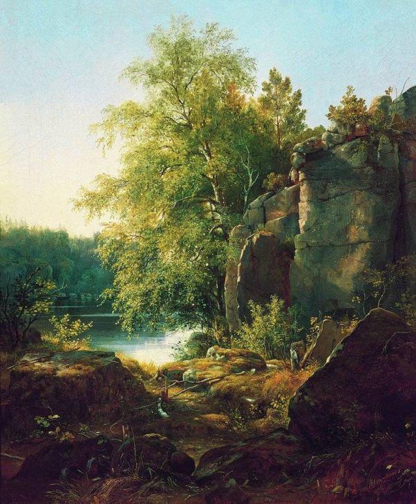 Вид на острове Валааме.1858