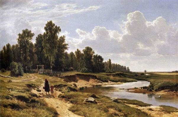 Речка Лиговка в деревне Константиновка близ Петербурга
