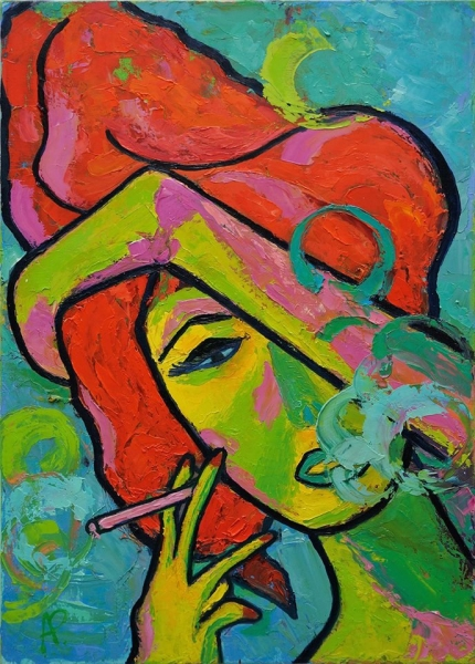 Курильщица