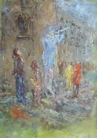 Флейтист и дети