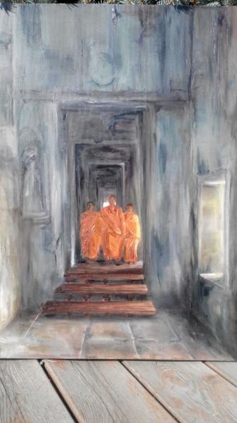 Буддийские монахи /  Лели Сафо