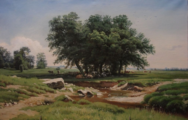 копия с картины И.И.Шишкина Дубки.