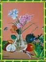 Букет цветов и фрукты репродукция