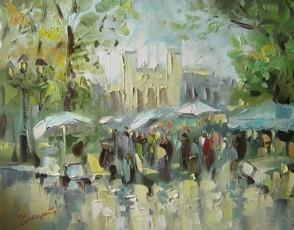 Весенний Кисловодск, площадь художников