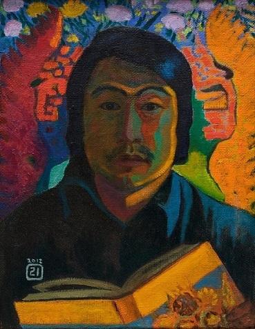 Автопортрет с книгой