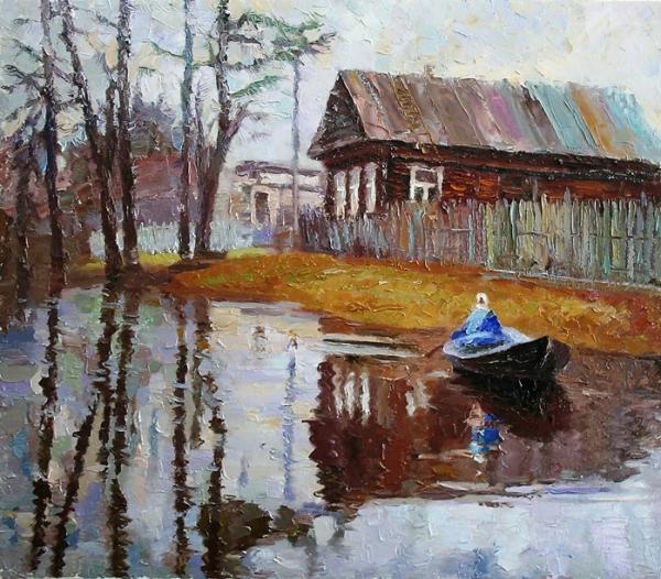 Апрель в деревне / Миша Рудник