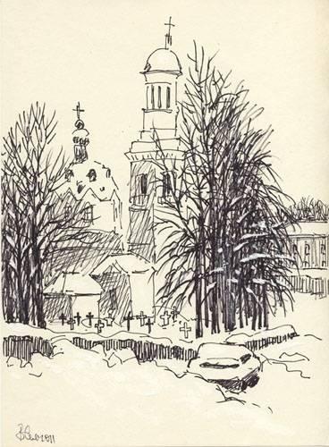 Зима 2011(церковь Александра Невского в Усть-Ижоре).