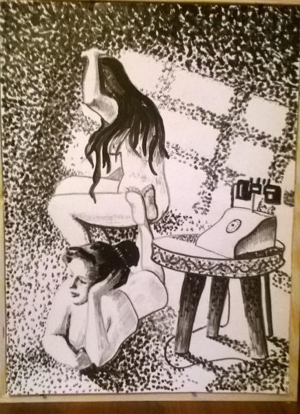 Рисунок к рассказу Габриэля Гарсия Маркеса
