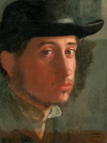 Автопортрет в мягкой шляпе 2