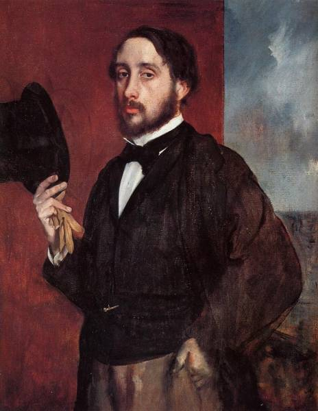 Автопортрет в приветствии (1865-1866)