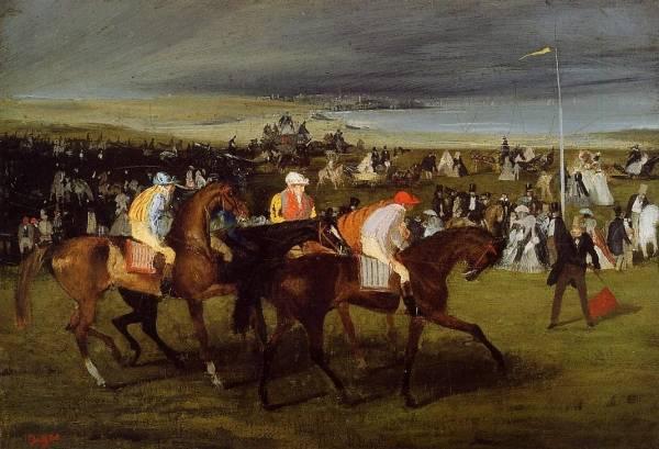 На скачказ. Старт (1861) (Кембридж, Гарвардский университет, музей Фогга)