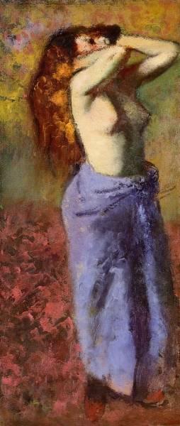 Женщина в голубом с обнаженным торсом (1887-1890)