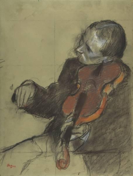 Скрипач (эскиз для 'Урока танца') (ок.1878-1879)