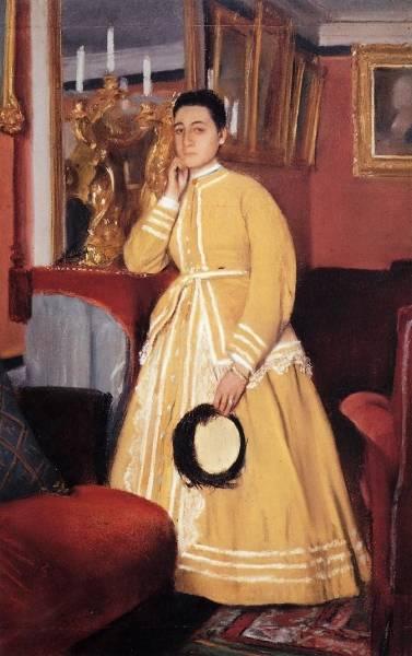 Портрет мадам Эдмондо Морбилли, урождённая Тереза де Га (ок.1869)