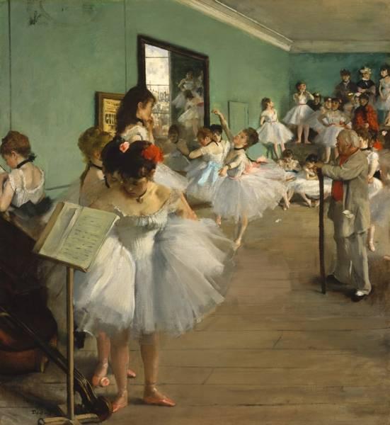 Танцевальный класс (1874) (83.5 х 77.2)