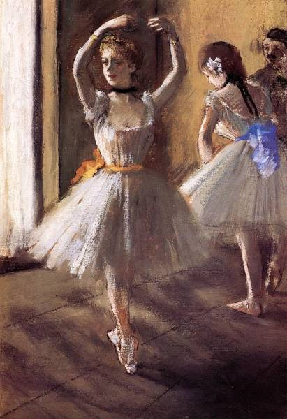 Две танцовщицы в классе
