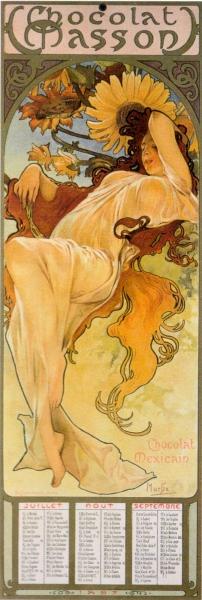 Календарь Chocolat Masson-Сезоны-Лето 1897