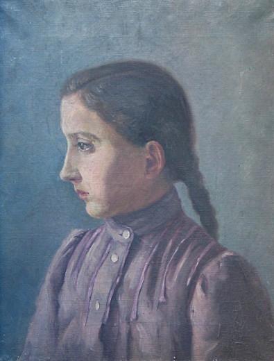Портрет Анжелы, сестры Мухи 1880