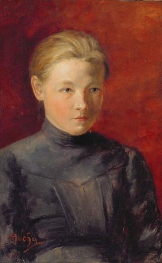 Портрет сестры Мухи Анны 1885