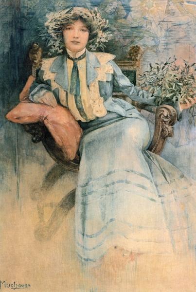 Портрет миссис Мухи с омелой 1903