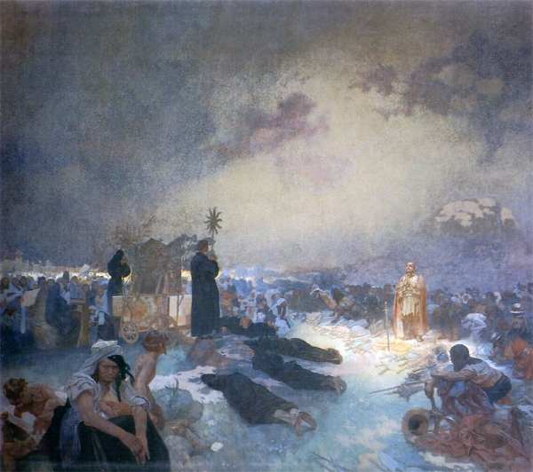 Славянский эпос. После битвы на Виткове, 1916