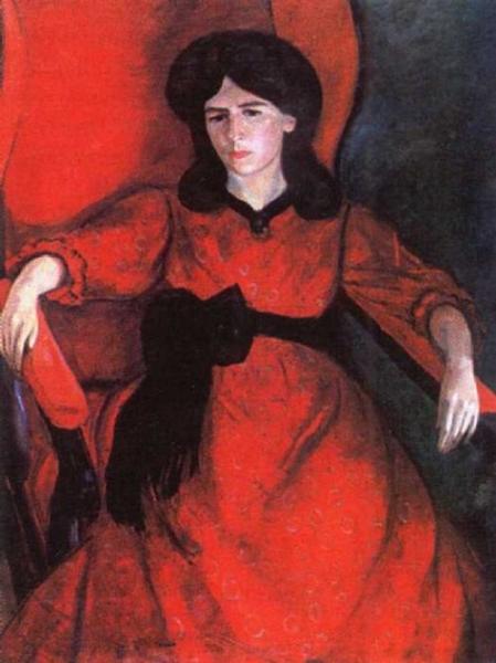 Лиза в кресле. Портрет жены художника
