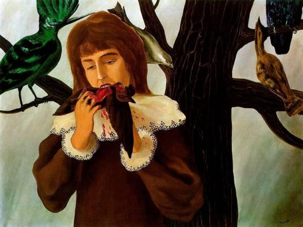 Le Plaisir - Jeune fille mangeant un oiseau (Удовольствие - Девушка, которая ест птицу)