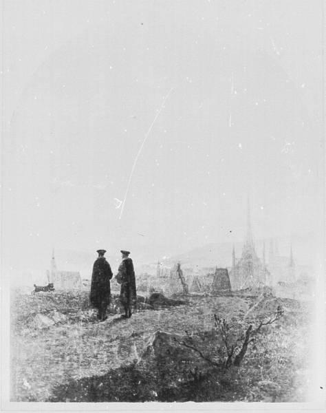 Иллюстрация к балладе И.-В. Гёте 'Пасхальная прогулка', неизв дата