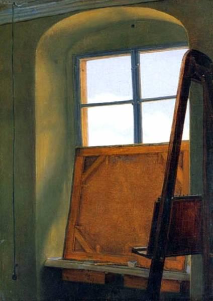 Окно в студии художника. 1823