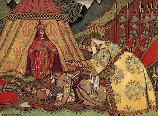 Царь Дадон перед Шамаханской царицей