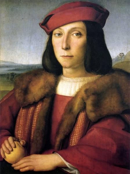 Портрет молодого человека с яблоком