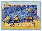 Керамическая картина по мотивам работы Андре Дерен «Лодки в Коллиуре»