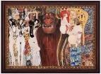 Керамическая картина по мотивам работы Густава Климта «Бетховенский фриз»