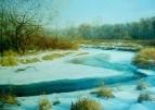 Конец зимы река Плиса