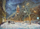 В заснеженной Москве
