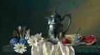 Вольная копия А Антонова. Натюрморт с ромашками