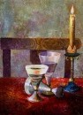 Свеча гореля на столе... / Владимир Волосов