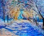 Ночь в зимнем парке
