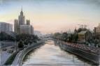 Вечер в Москве-две реки.