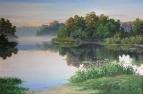 Лесное озеро утром / Игорь Воробьев
