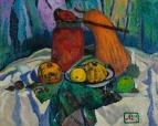 Натюрморт с маринованными помидорами