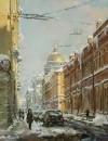Морозный день в Петербурге