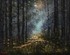 Solnechnoe utro v lesu