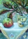 Яблоко и веточка каштана