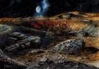 Лунное поселение пришельцев.